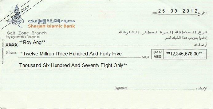 Checks and Cheques in Dubai