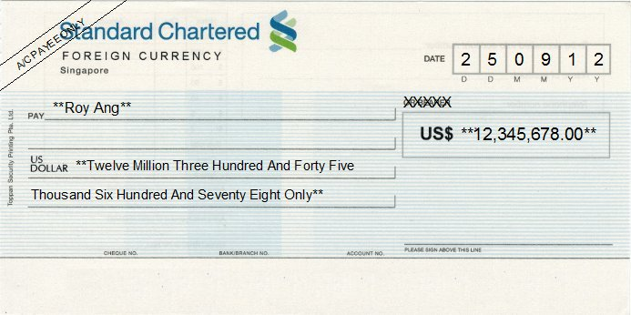 how to get numbers from cheque