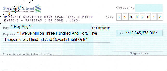 bank account number format in pakistan