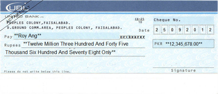 Cheque Amount to Words Converter