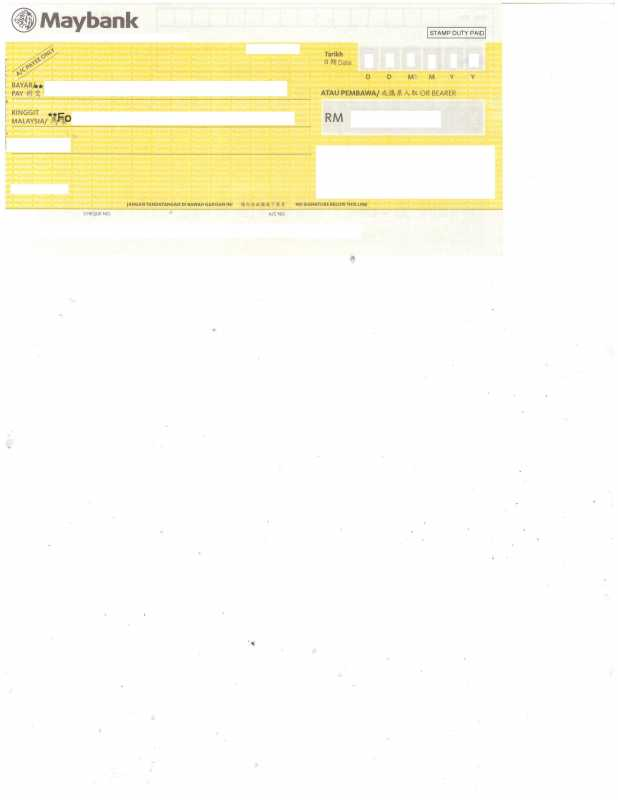 maybank cheque format printed out of alighment